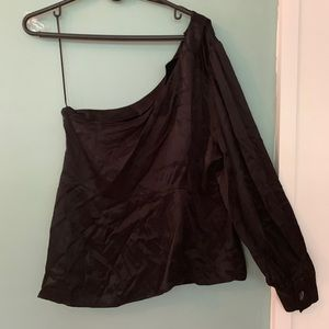 Zara Tops - New Zara Evening One Shoulder Top XL Long Sleeve
